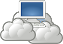 Computer in clouds